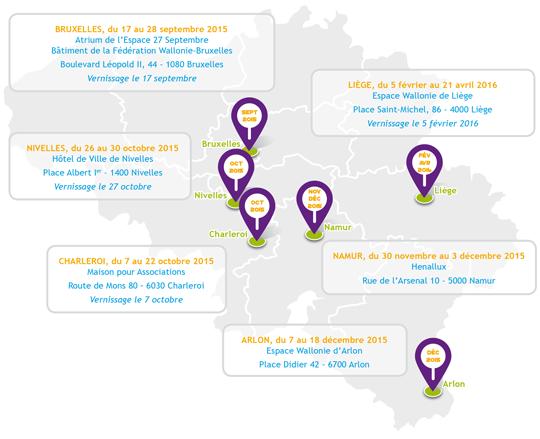 """Expo """"La jeunesse en relief"""" - Dates et lieux"""